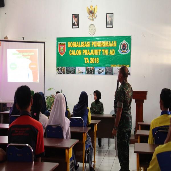 SOSIALISASI PENERIMAAN CALON PRAJURIT TNI TAHUN 2018