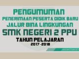 PENGUMUMAN PPDB JALUR BINA LINGKUNGAN TAHUN 2017