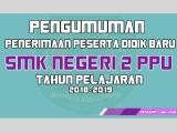 PENGUMUMAN PPDB TAHUN PELAJARAN 2018-2019