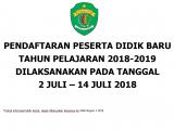PELAKSANAAN PPDB TAHUN PELAJARAN 2018-2019